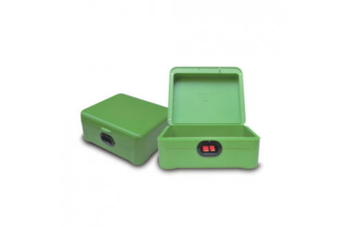 BOX-A01A Apple Green Double Fingerprint Gun Box