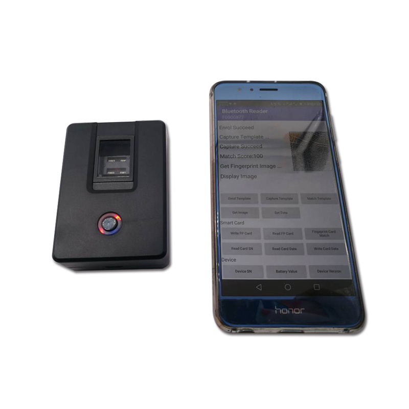 HF4000plus Bluetooth Fingerprint Reader support Windows, MacOS,Linux,  Android, iOS .