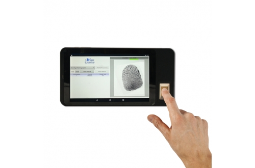 FP07  Android Fingerprint smart handheld device 2D laser barcode scanner