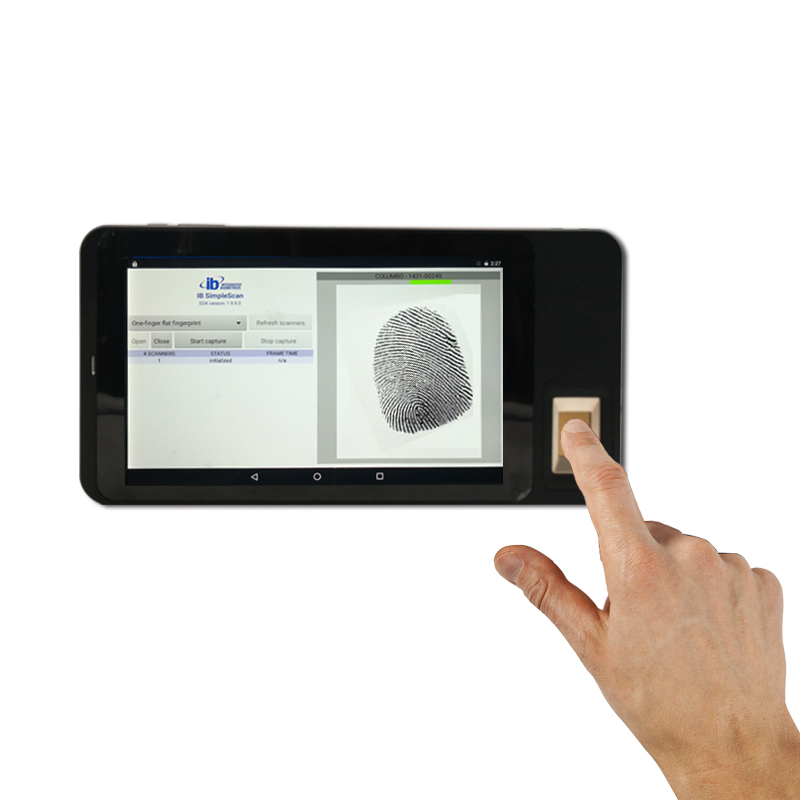 FP07  Seven Inch android warehouse barcode scanner Fingerprint Time Attendance Tablet