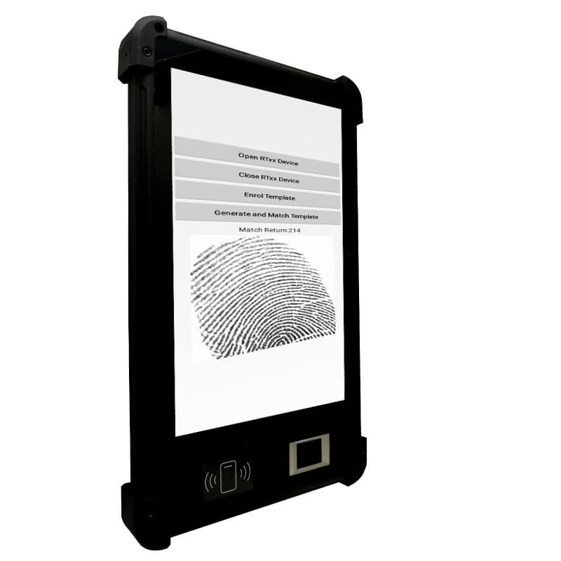Rugged Android Windows IP67 NFC Fingerprint Tablet For Telcom Sim Registration