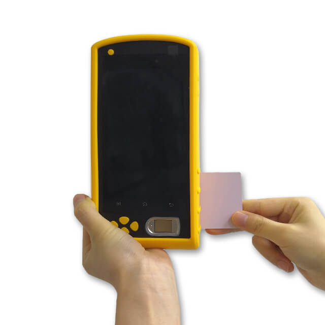 Biometric Rugged Android NFC Fingerprint Device warehouse barcode
