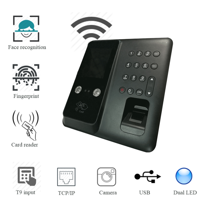 face & fingerprint time attendance machine
