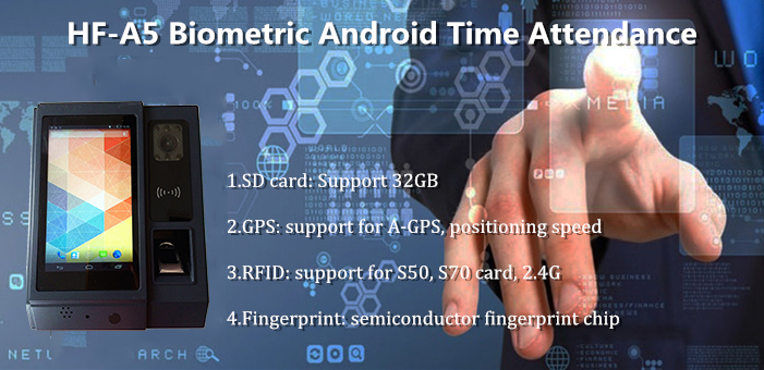 A5 Android Fingerprint Time Attendance