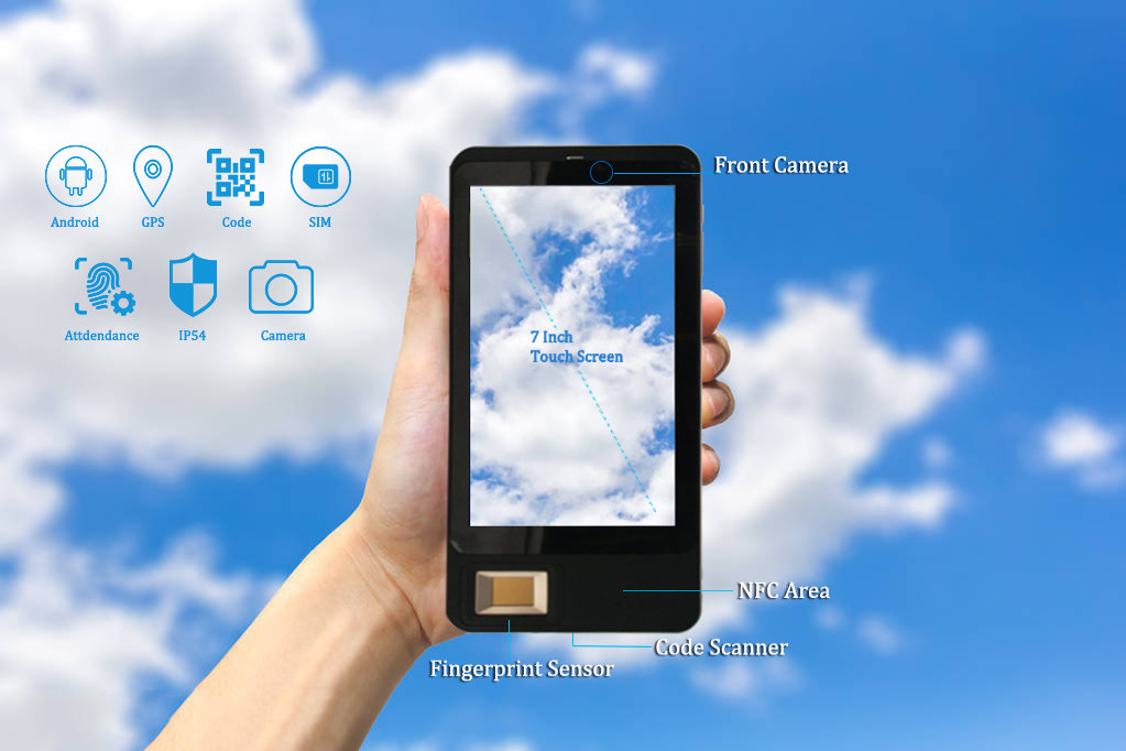 fingerprint handheld  tablet for sim card registration