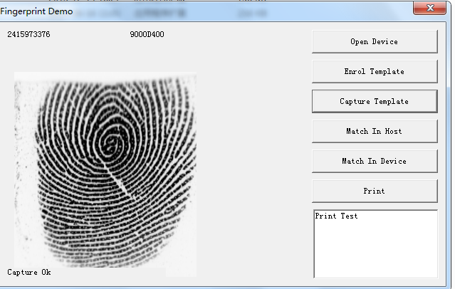 fingerprint scanner sdk
