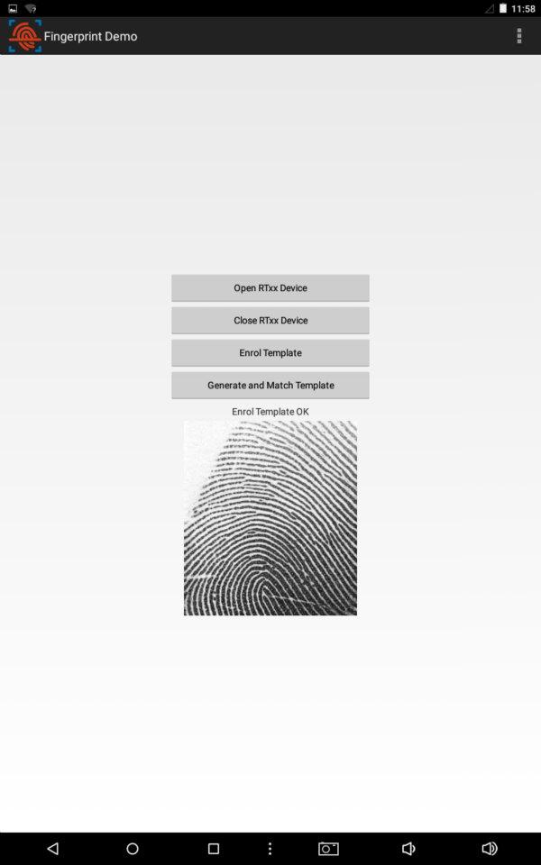 use fingerprint reader