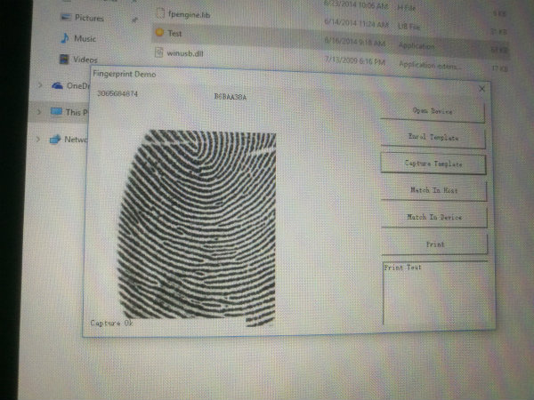thumb scanner software for pc