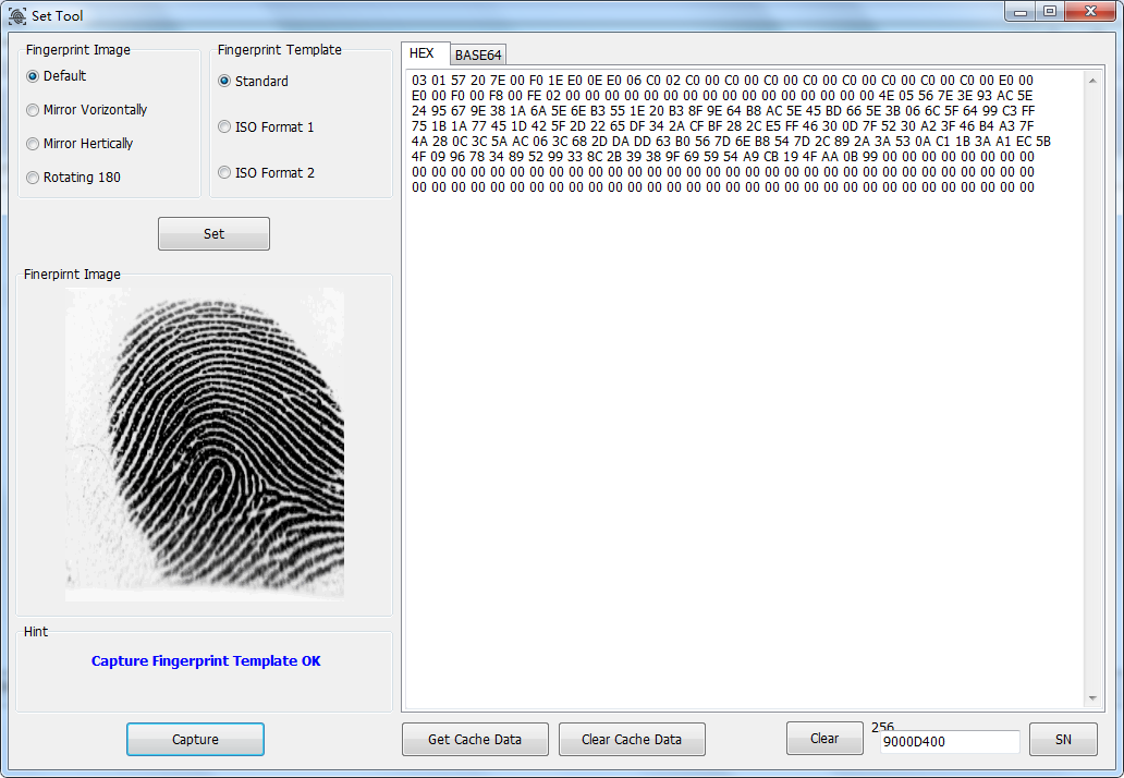 fingerprint scanner demo