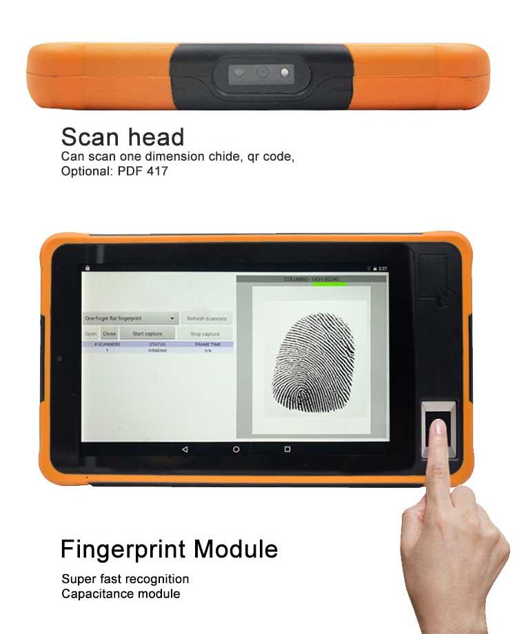 fingerprint tablet pc for digital signing