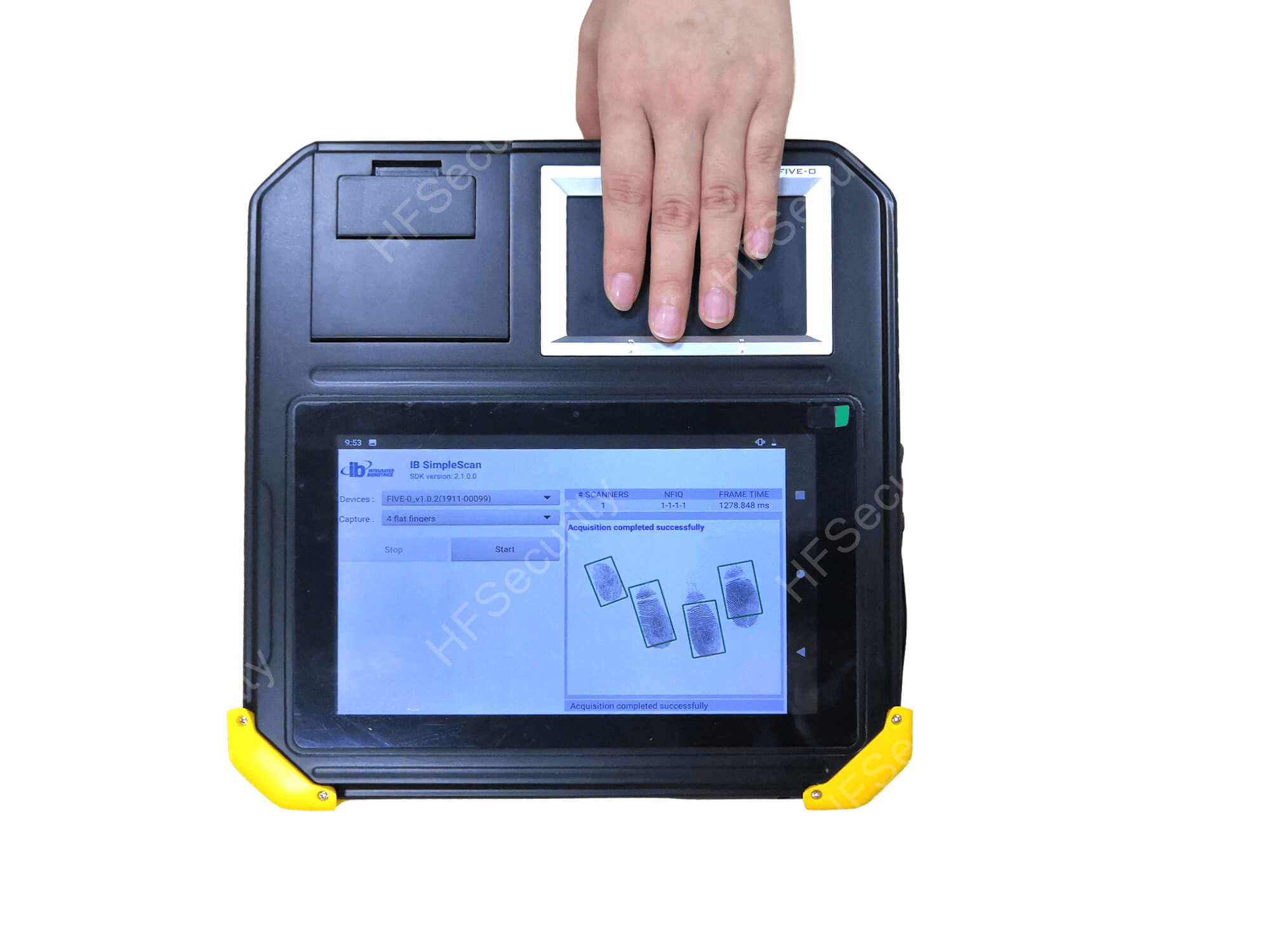 8 inch biometric tablet with FAP50
