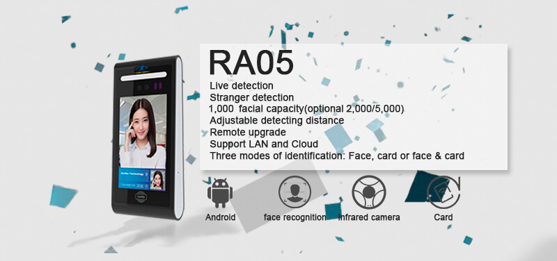 RA05 Android Face Time Attendnace and Access Control