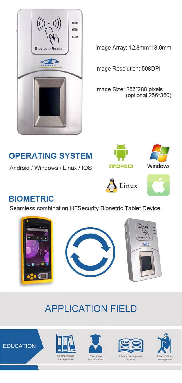 china bluetooth fingerprint scanner factory