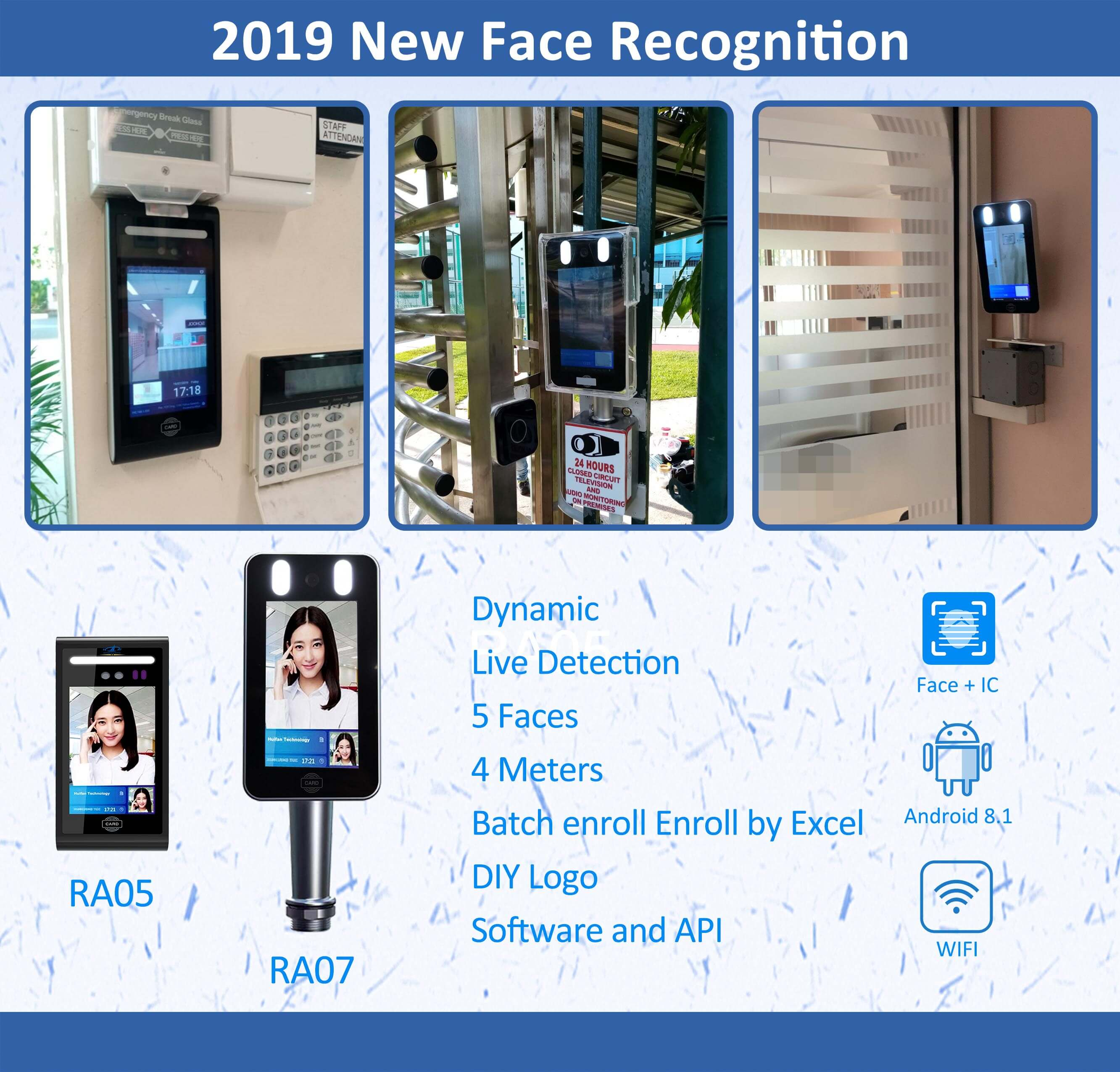 Facial Recognition Time Attendance Recognition china manufacturer