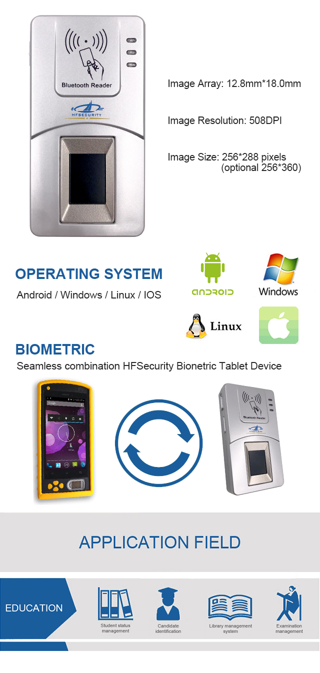 wireless fingerprint scanner china manufacturer