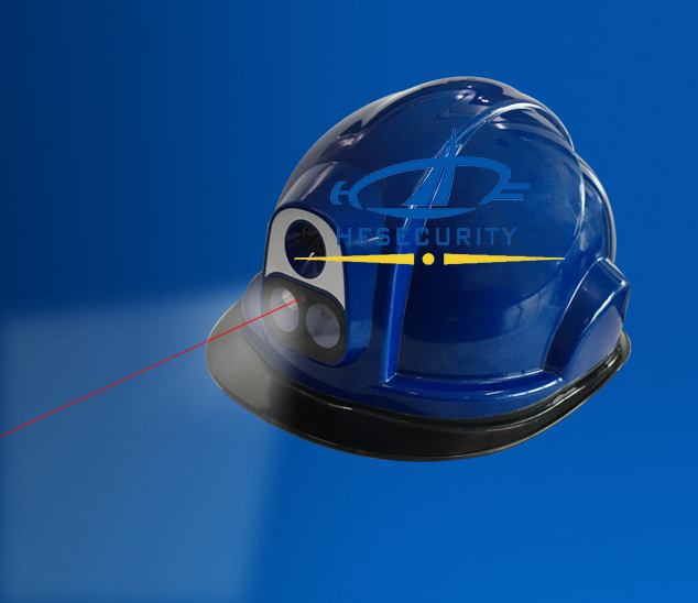 infrared temperature measurement helmet