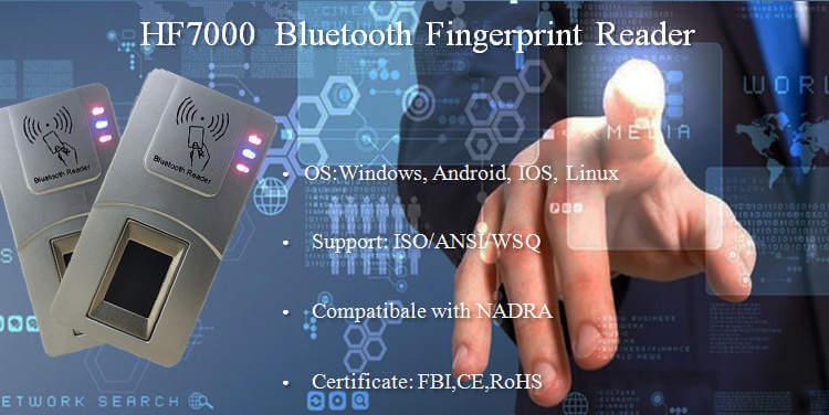 HFSecurity HF7000 Bluetooth Wireless Fingerprint Scanner