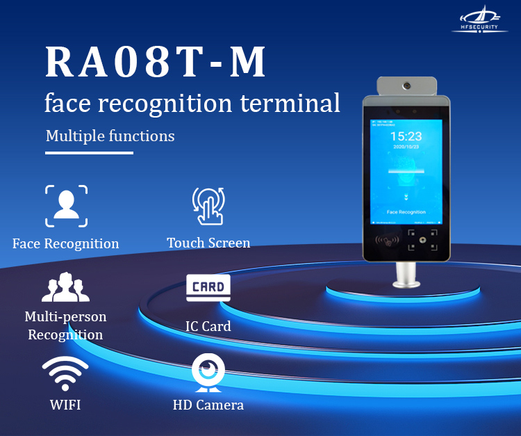 HFSecurity RA08T-M Face Recognition Temperature Device