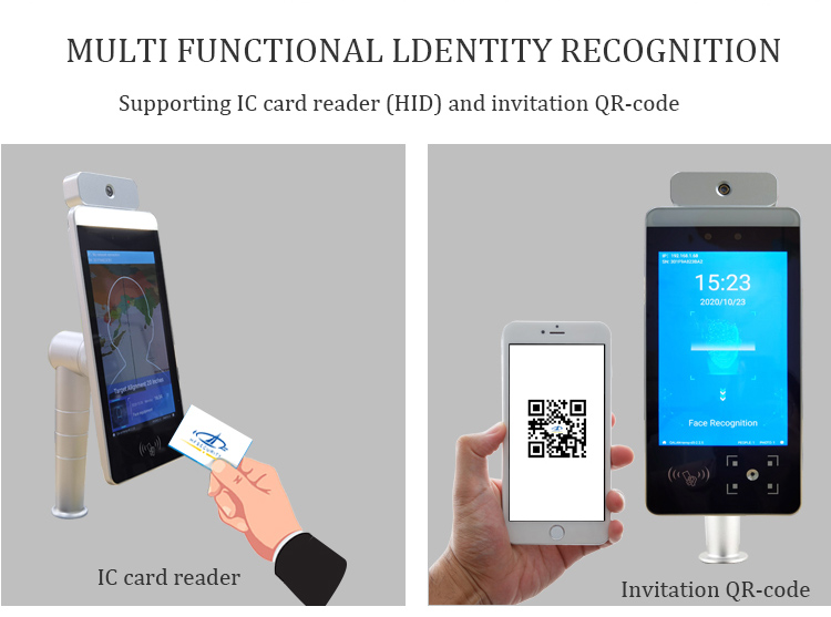 HFSecurity RA08T-M Face Recognition Temerpature with qr code