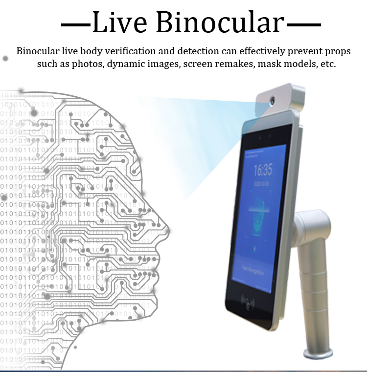 HFSecurity RA08T-M Dynamic Living Face Recognition DEVICE