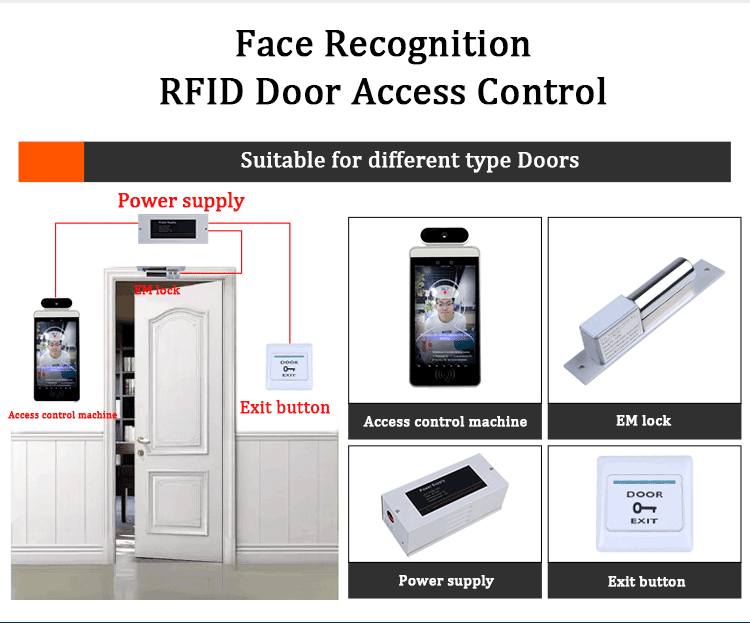HFSecurity RA08T 8inch Dynamic RFID Access Control device