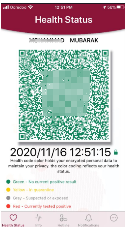 Face recognition with relatime health code RA08T HFSecurity