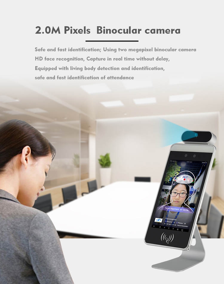 HFSecurity Android 8 inch free sdk face recognition time attendance device