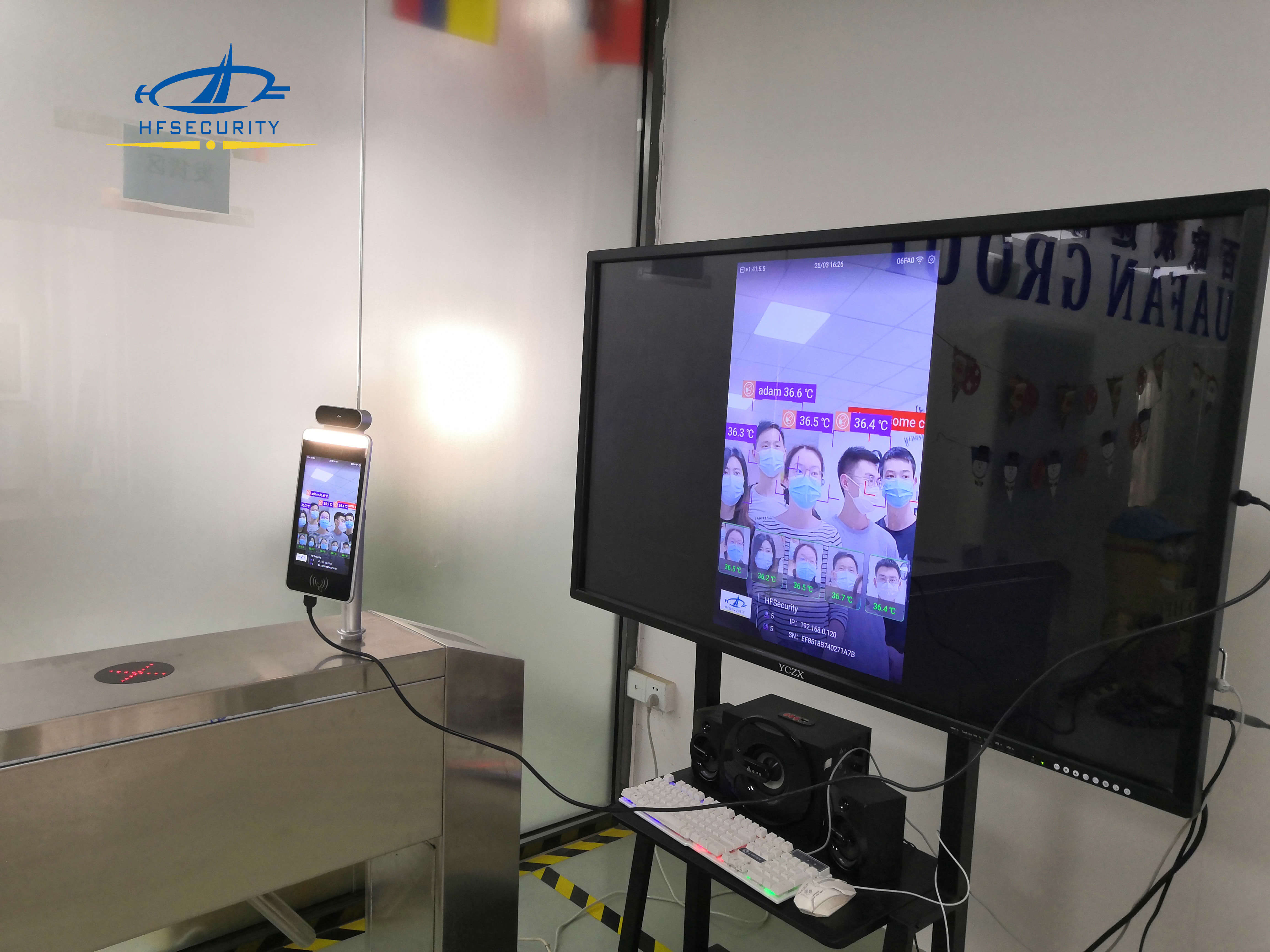 HFSecurity RA08TPlus Multi person Face Recognition Device