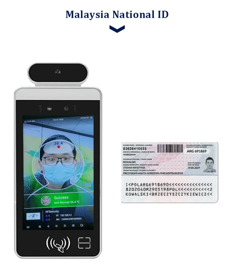 HFSecurity RA08T PDF417 Face Recognition Device