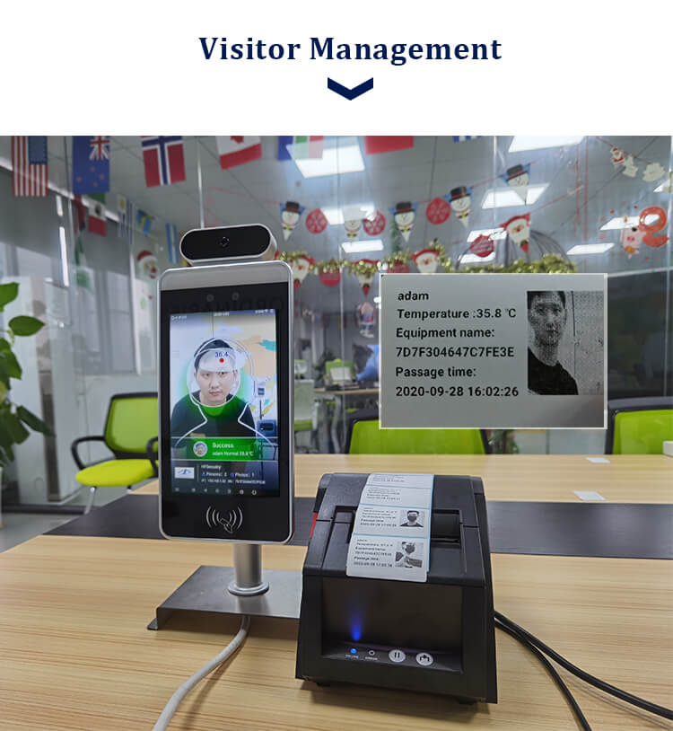 HFSecurity RA08T Face Recognition Vistor management