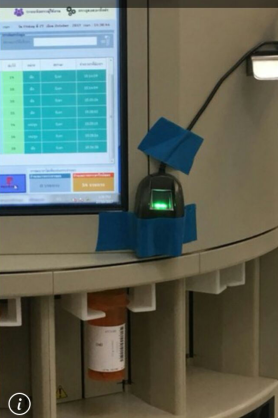Fingerprint scanner for health
