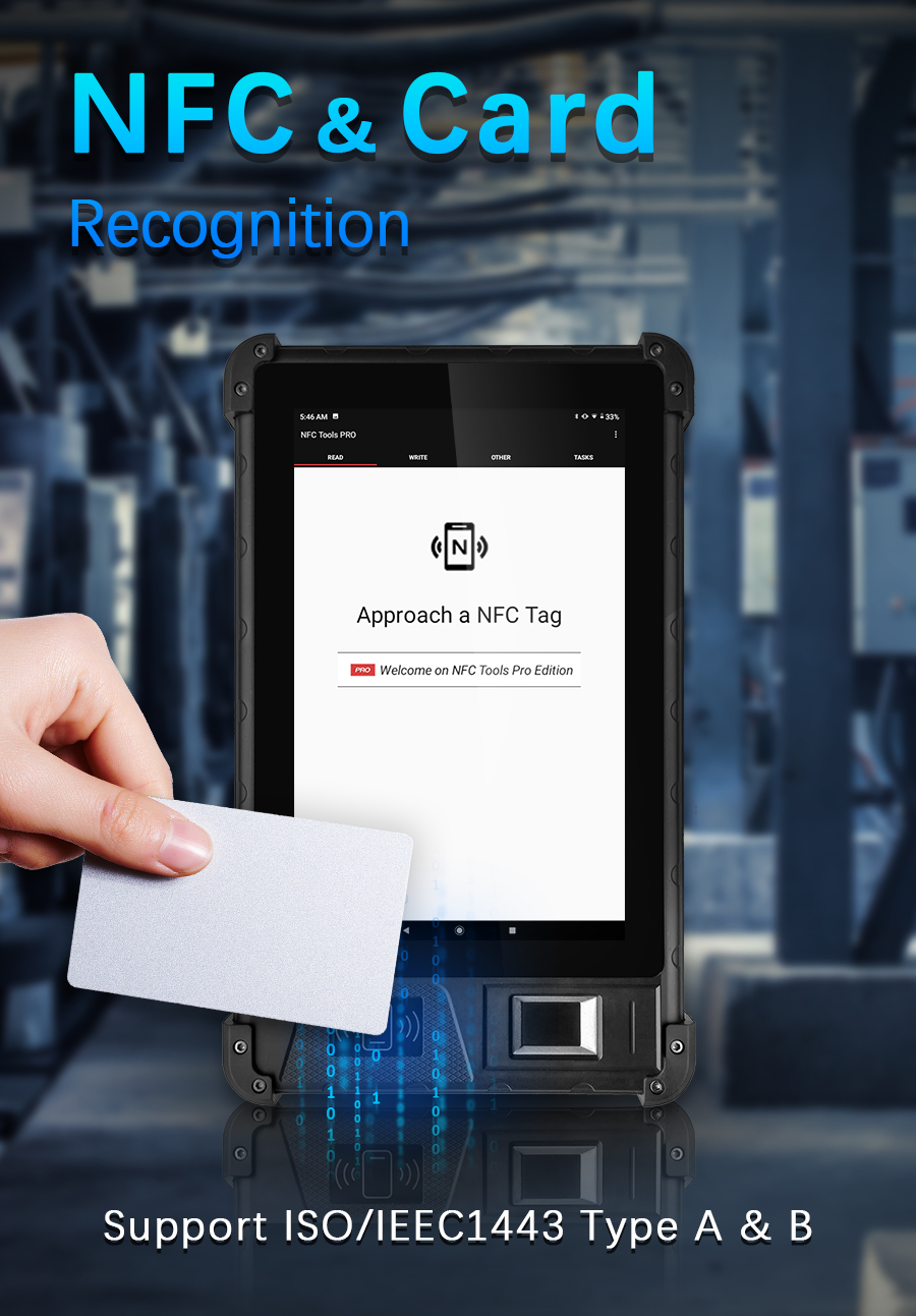 HFSecurity 8 inch biometric tablet
