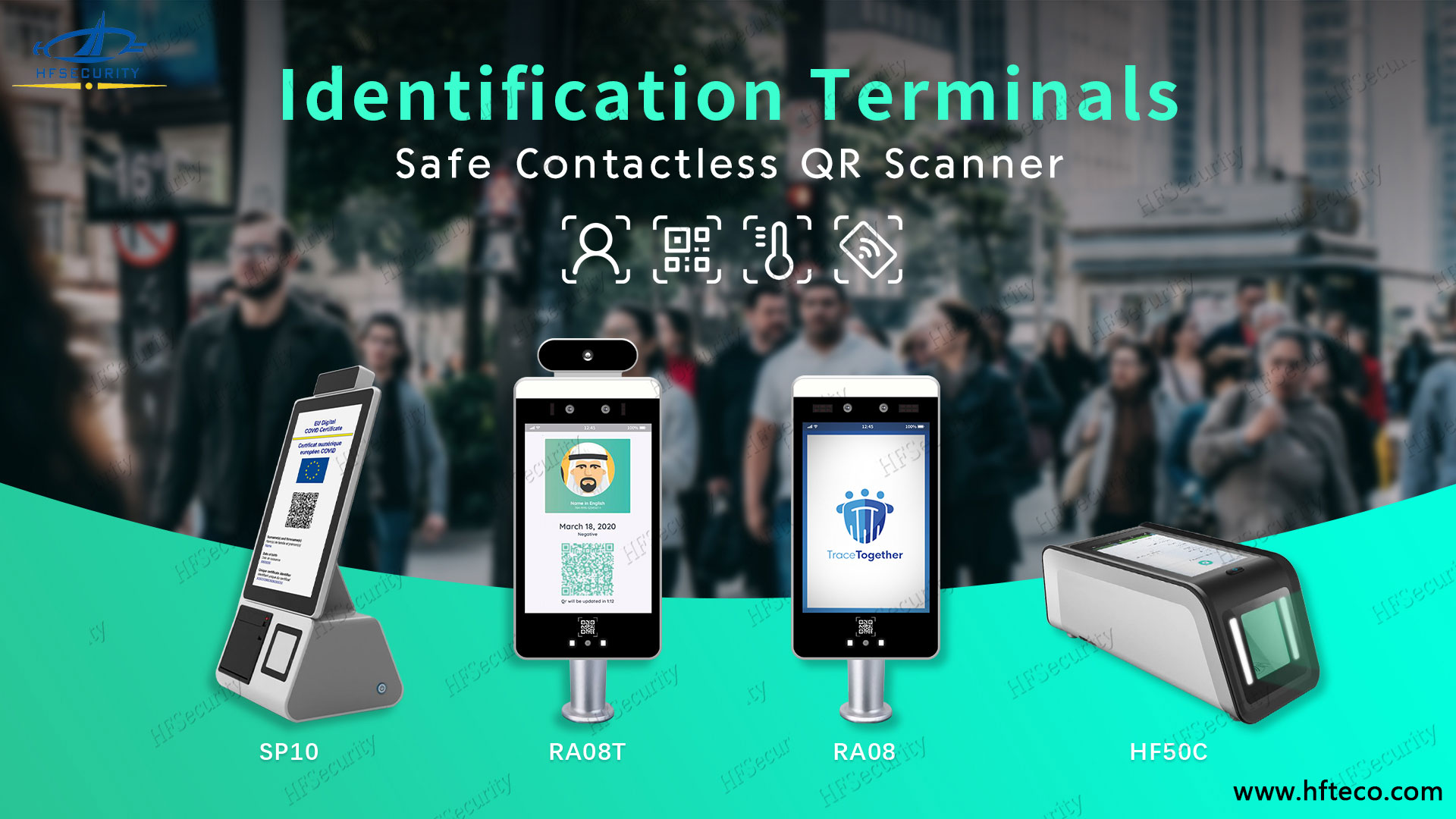 HFSecurity Green Health Code Scanner Device