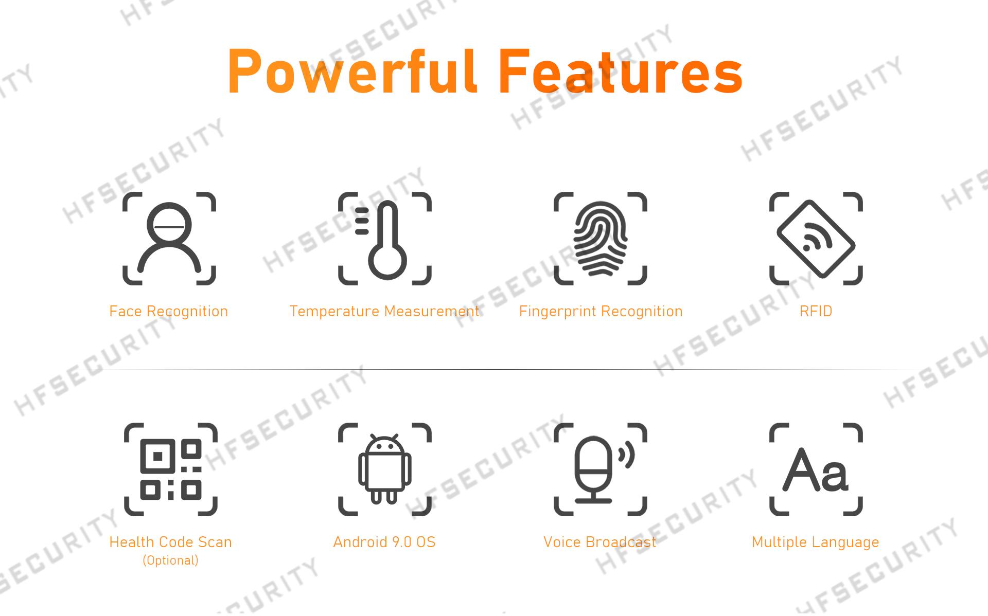 HFSecurity RA08T Fingerprint Face Recognition Device