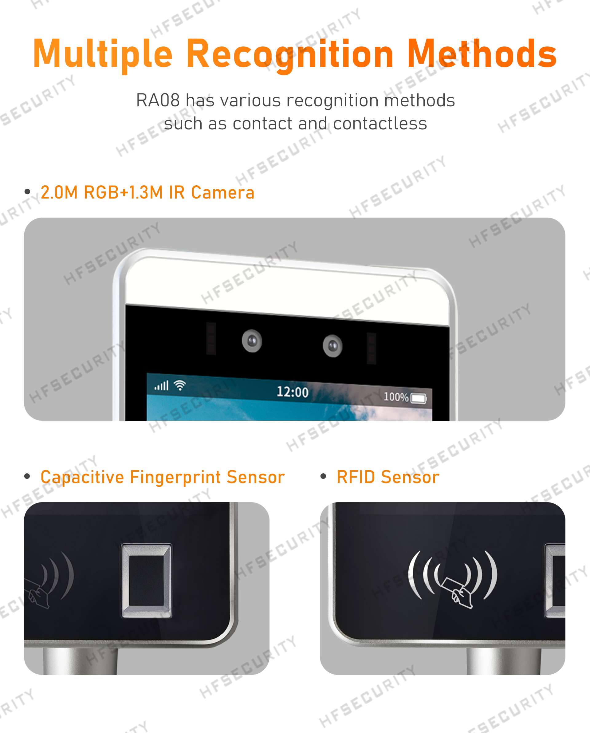 HFSecurity 8 inch Face Fingerprint Scan Recogniton Device