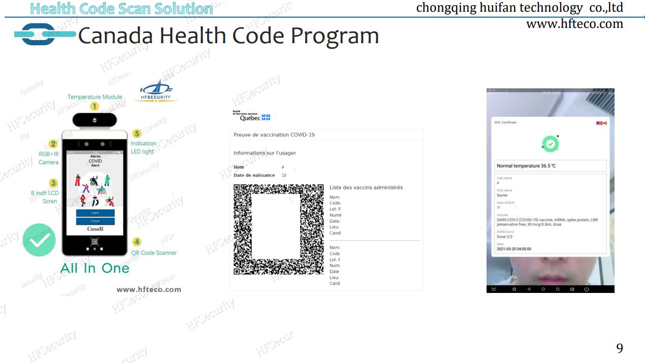 EU Health Code Scan Device
