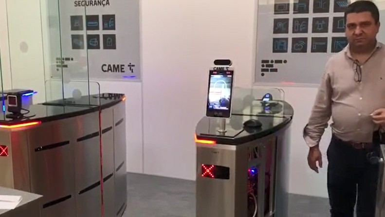 temperature screening kiosk for covid HFSecurity