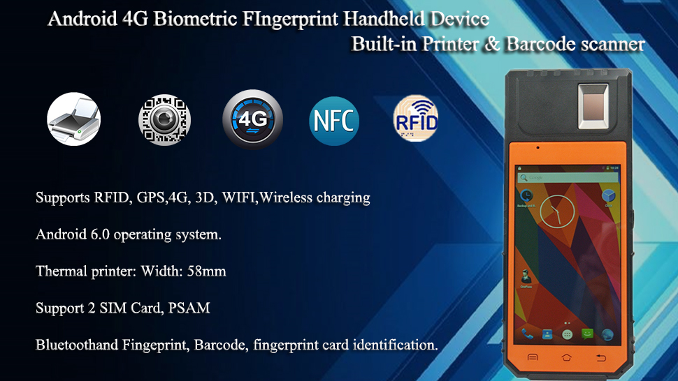 HF SECURITY:Biometric Fingerprint Mobile Attendance Smart