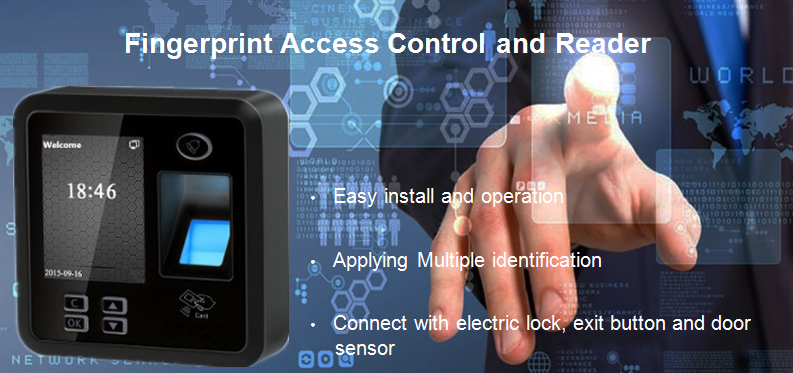 F400 Fingerprint Access Control with Access Control Software