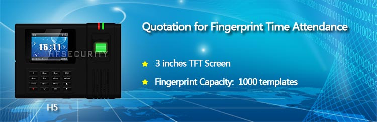 H5  Fingerprint Scanner Reader Time Attendance