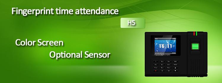 H5 fingerprint time attendance
