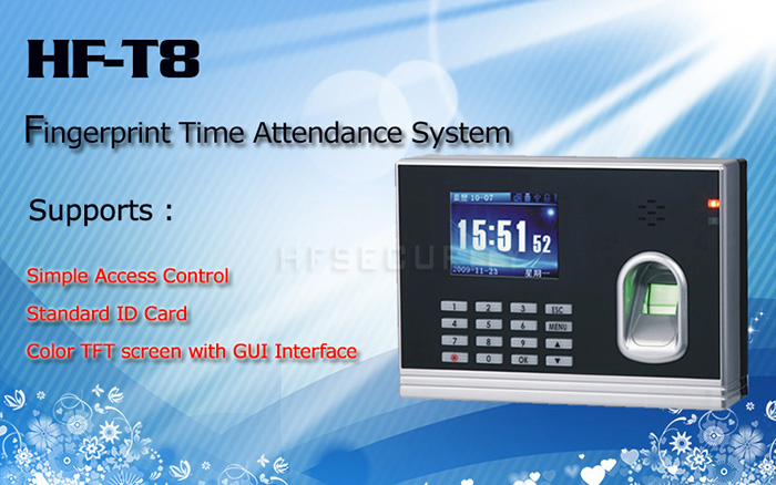 HF-T8 fingerprint time attendance