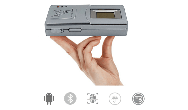 HF7000 Wireless fingerprint scanner with IC card reader