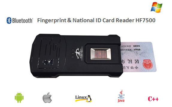 HF7500 Bluetooth Fingerprint & National ID Card Reader