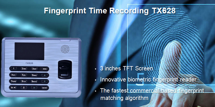TX628 Fingerprint Time Recording