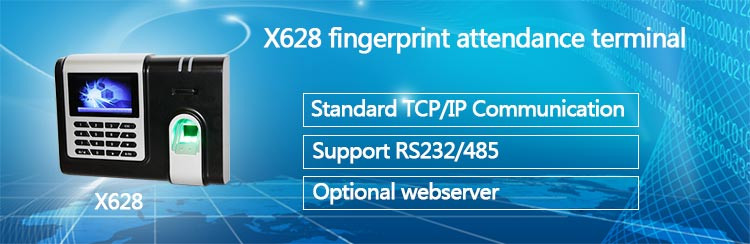 X628 Fingerprint time recording&Access control