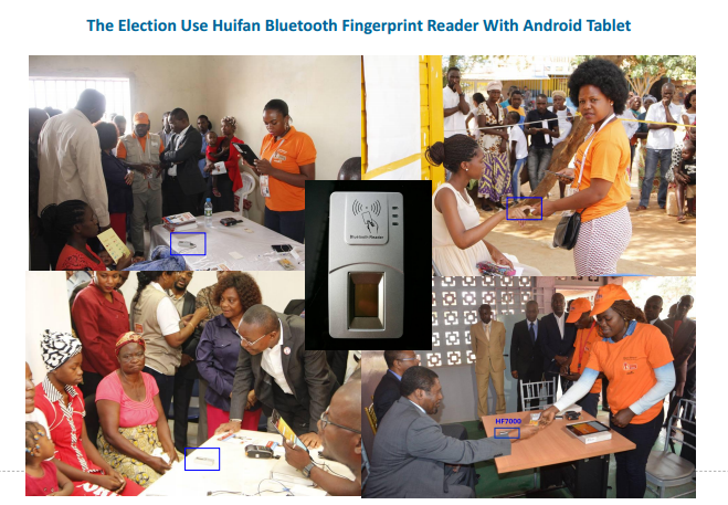 bluetooth fingerprint reader used in angola election